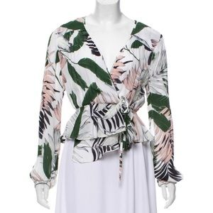 Milly printed silk top size: 6/M
